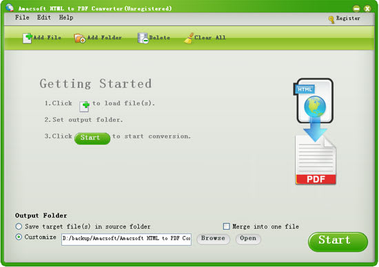 Amacsoft HTML to PDF Converter