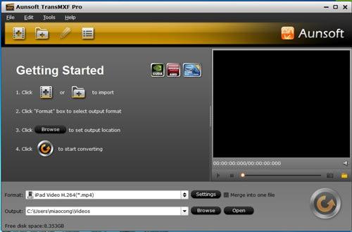 Aunsoft TransMXF Pro