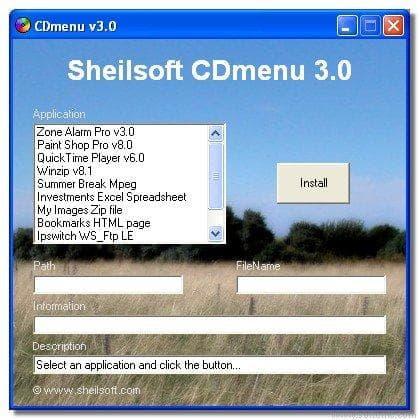 Sheilsoft CDMenu