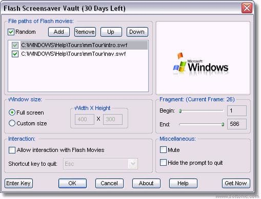 Flash Screensaver Vault