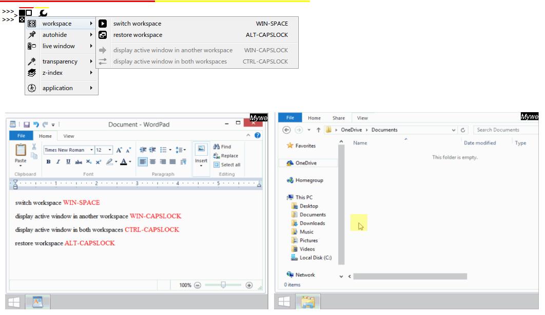 Mywe Virtual desktop