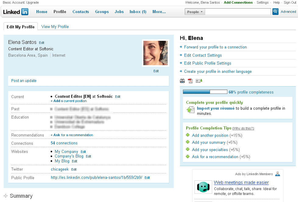 linkedin online