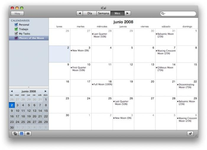 Calendar Planner Osx : Moon phase calendar for mac download