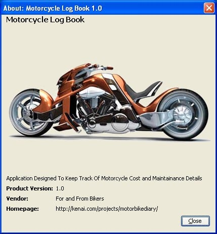 Motorcycle Log Book