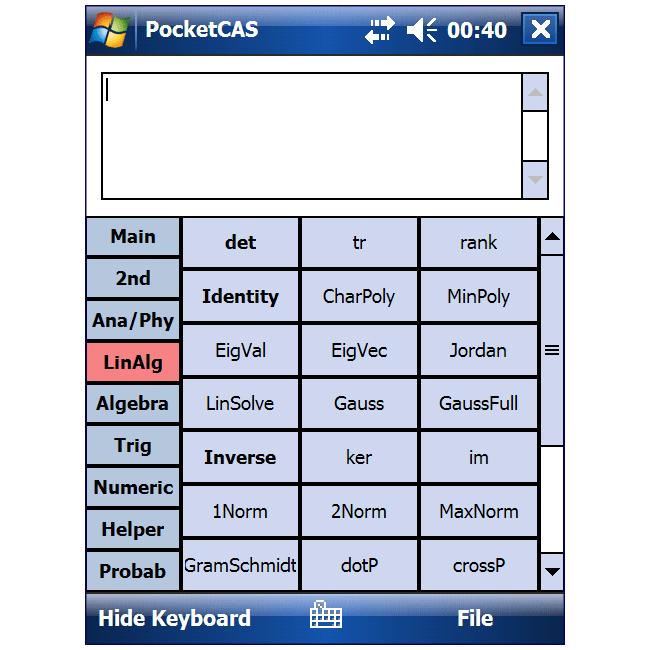 PocketCAS