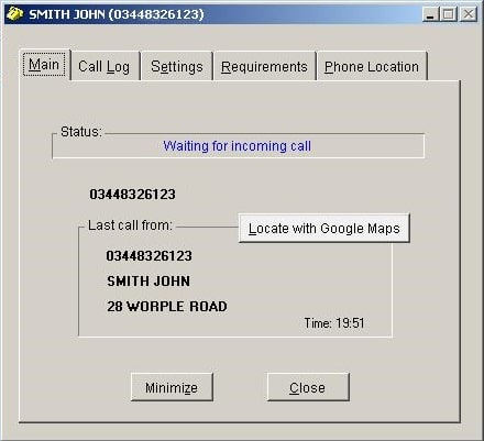 Phone Caller ID for PC