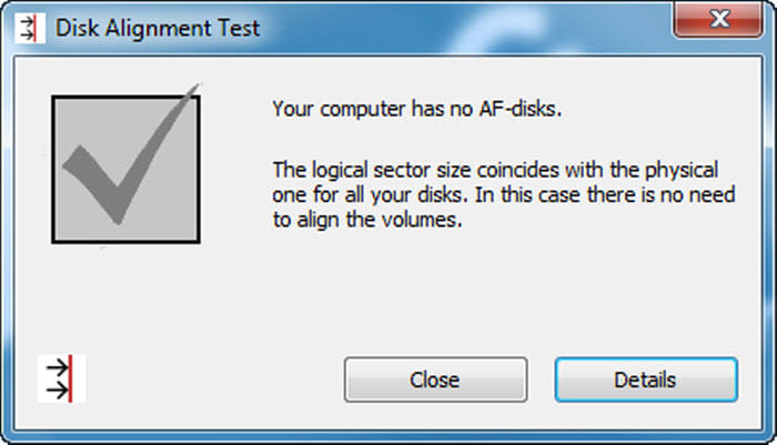 Disk Alignment Test