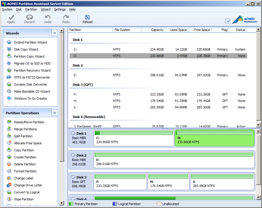 AOMEI Partition Assistant Server Edition