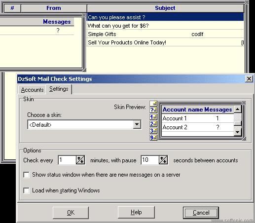 DzSoft Mail Check