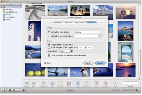 Sharpcast Photos iPhoto Uploader