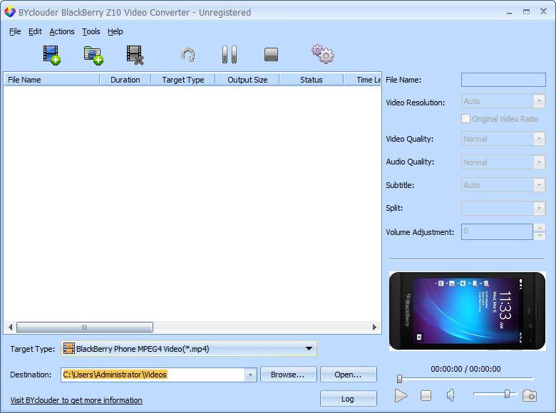 BlackBerry Z10 Video Converter