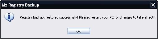 Mz Registry Backup