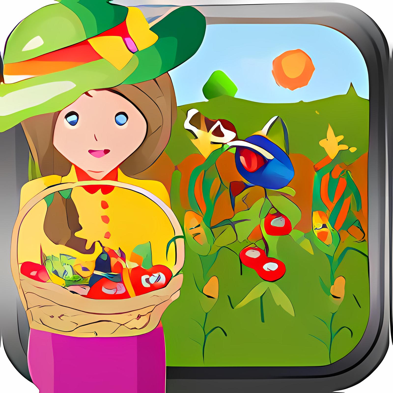Jolly Little Farm Girl