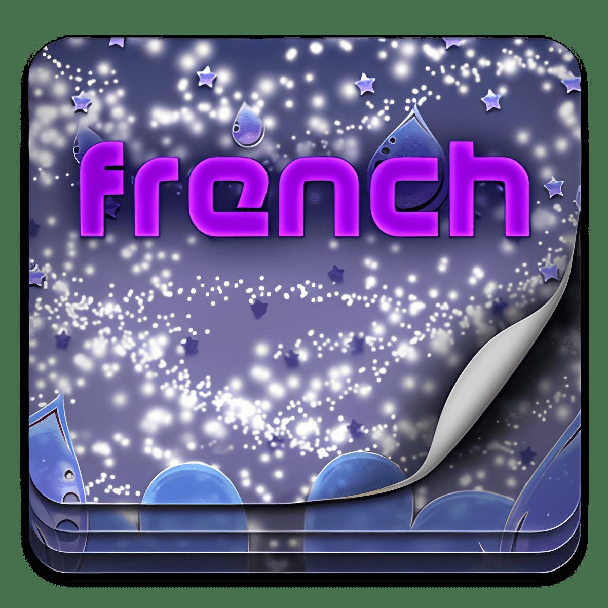 El tema del teclado francés