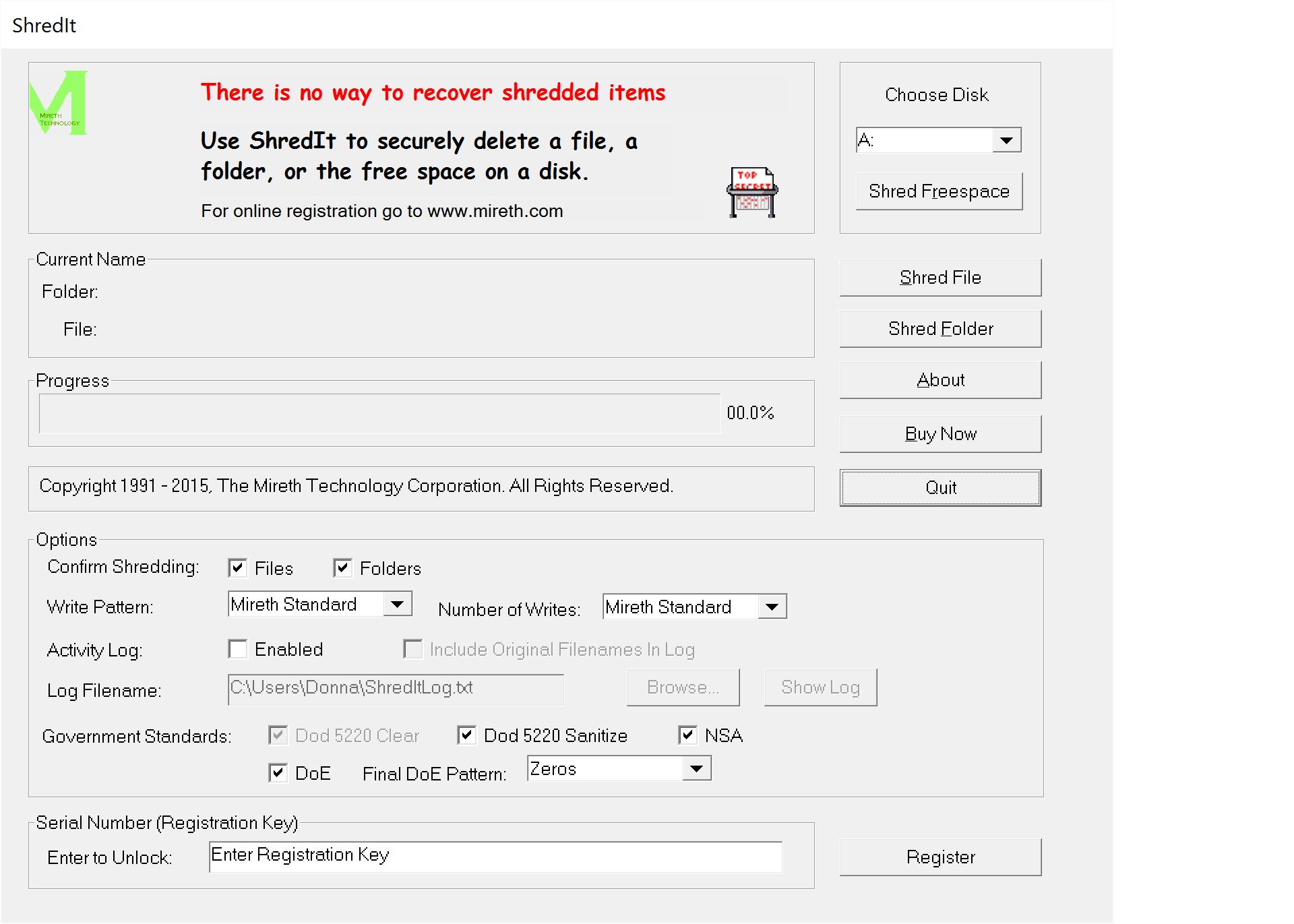ShredIt for Windows