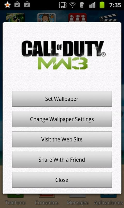 MW3 Live Wallpaper