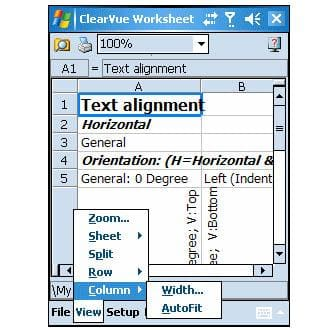 ClearVue Worksheet Professional