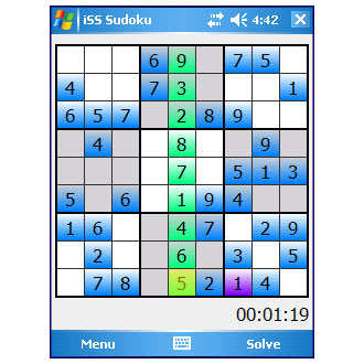 Sudoku Implicit Software