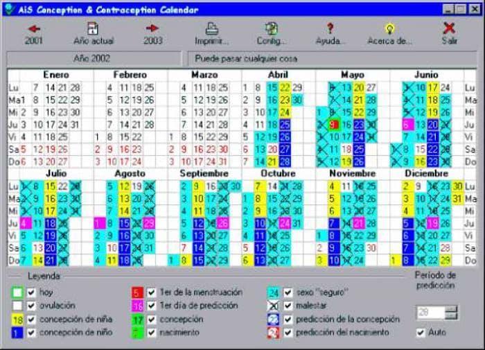 AiS Conception & Contraception Calendar