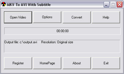 MKV to AVI with Subtitle