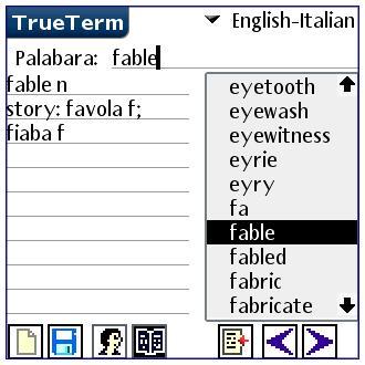 English/Italian-Special PalmOS