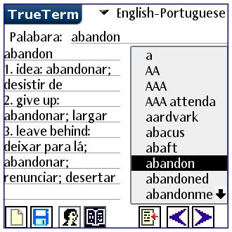 English/Portuguese-Special PalmOS