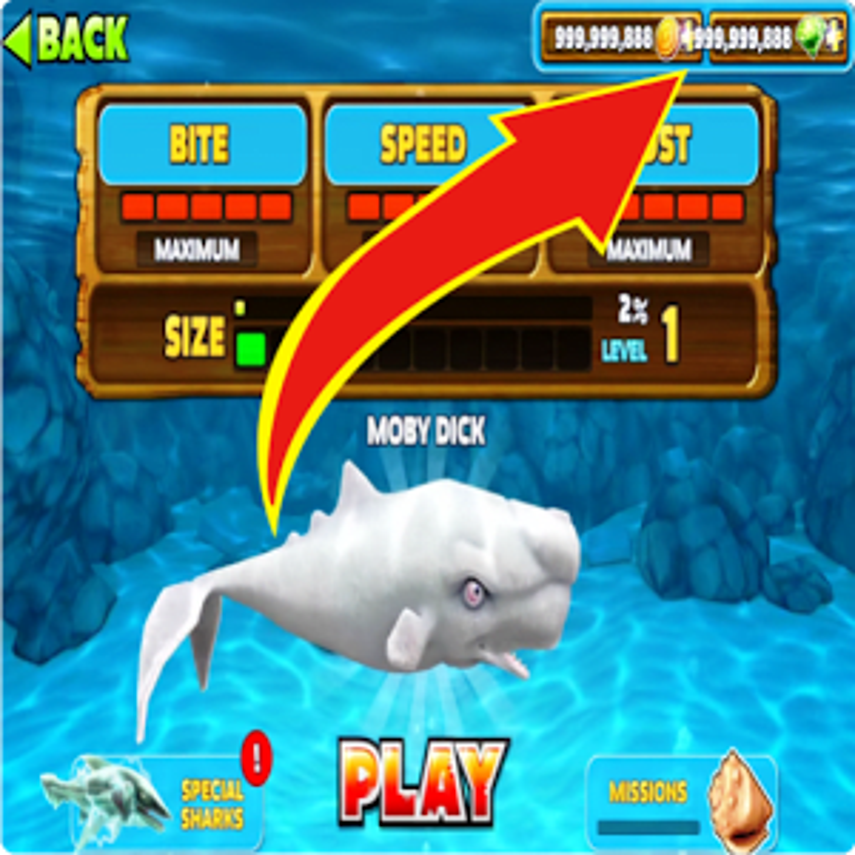 Cheat Hungry Shark Evolution 1.0