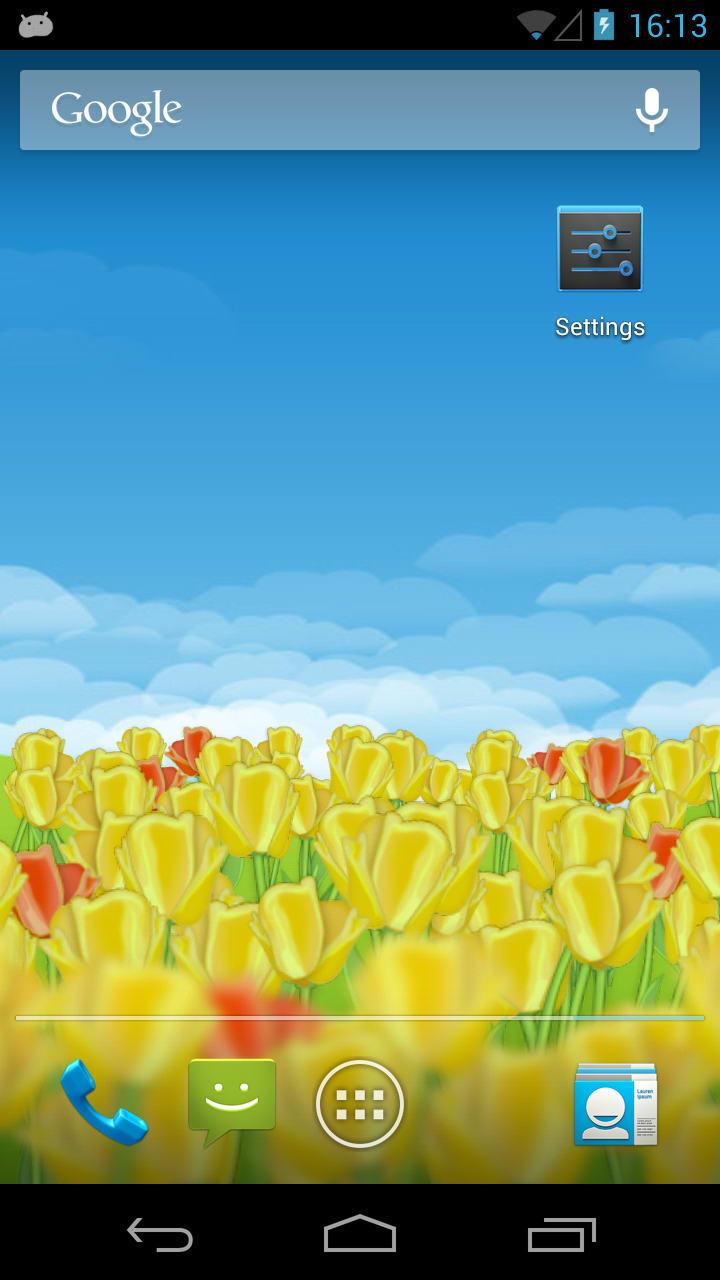 Dutch Tulips 3D Live Wallpaper
