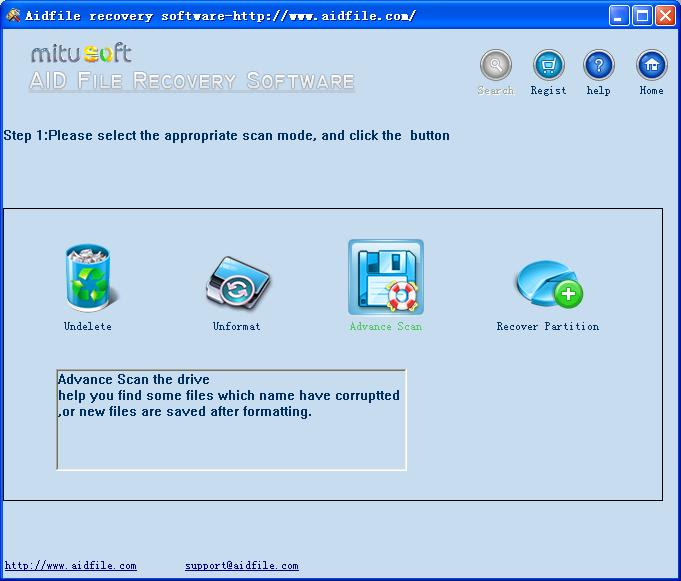 Aidfile recovery software