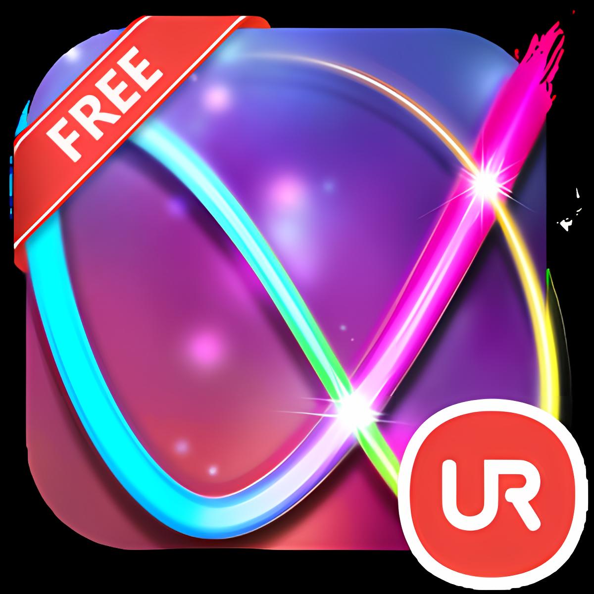 UR 3D Neon Lines Live Theme