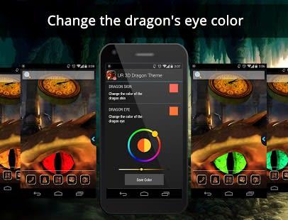 UR 3D Dragon Cave Live Theme