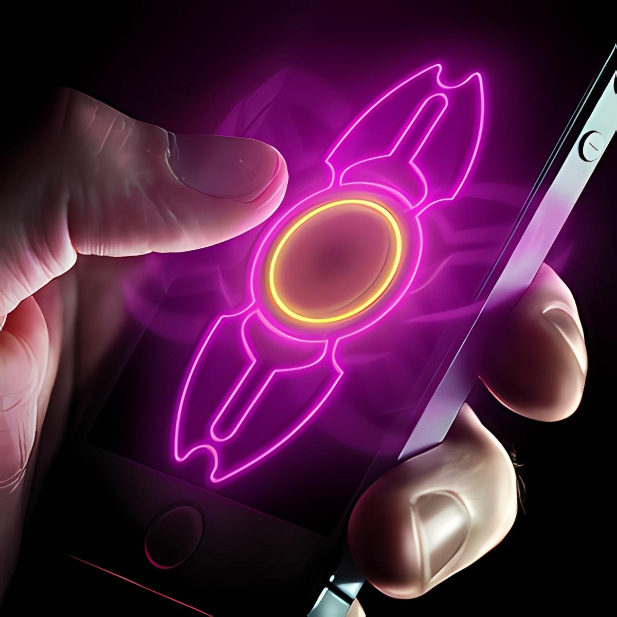Neon hand fidget spinner 1.0