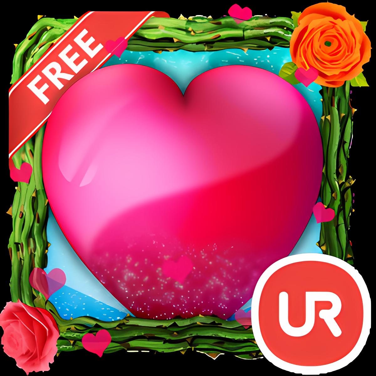 UR 3D Love Heart Live Theme