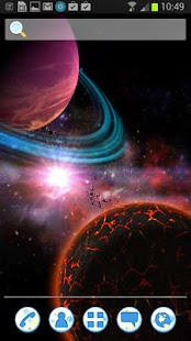 UR 3D Space Galaxy Live Theme