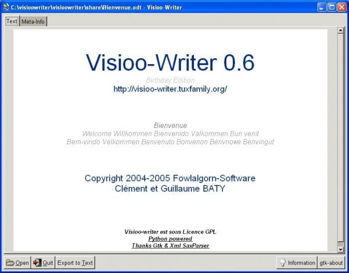 Visioo-Writer