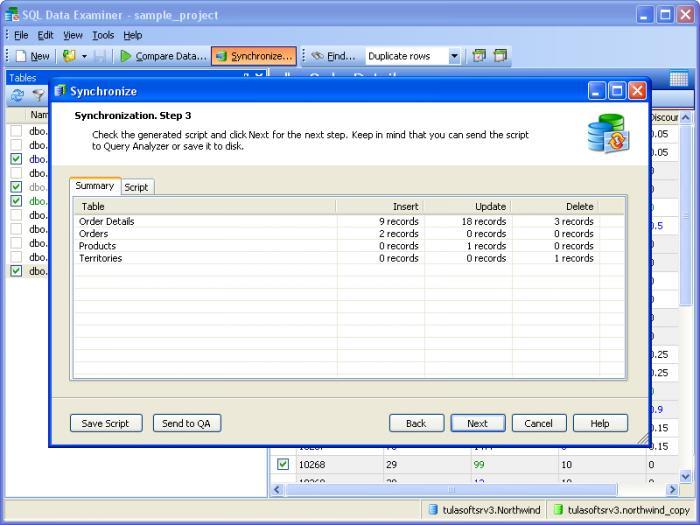 SQL Data Examiner