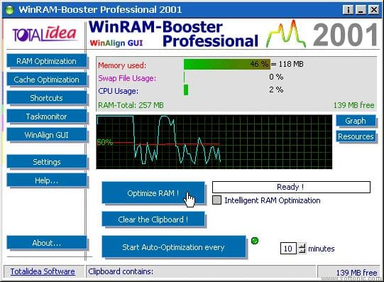 WinRAM Booster Professional 2001
