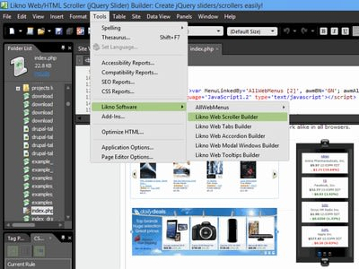 Likno Scroller/Slider Expression Web Add