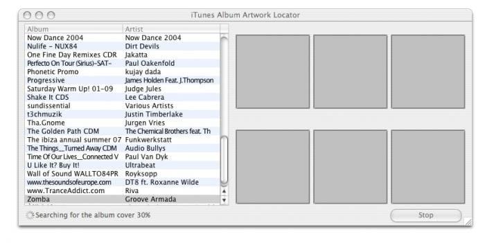 iTunes Album Artwork Locator