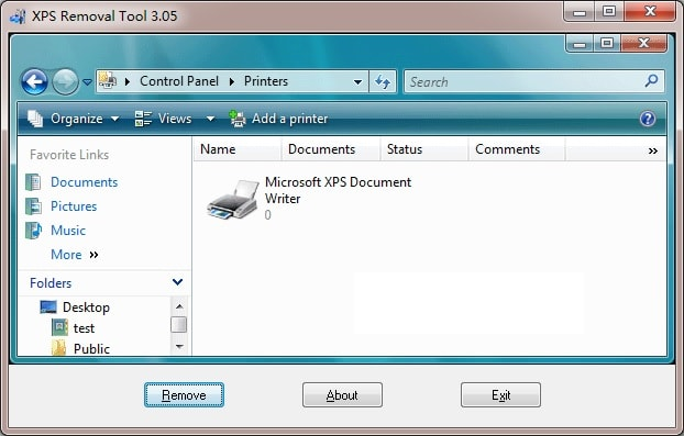 XPS Removal Tool