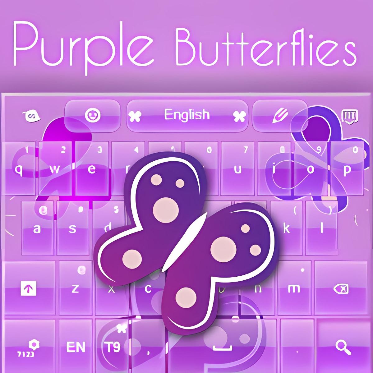 Purple Keyboard Chica Tema