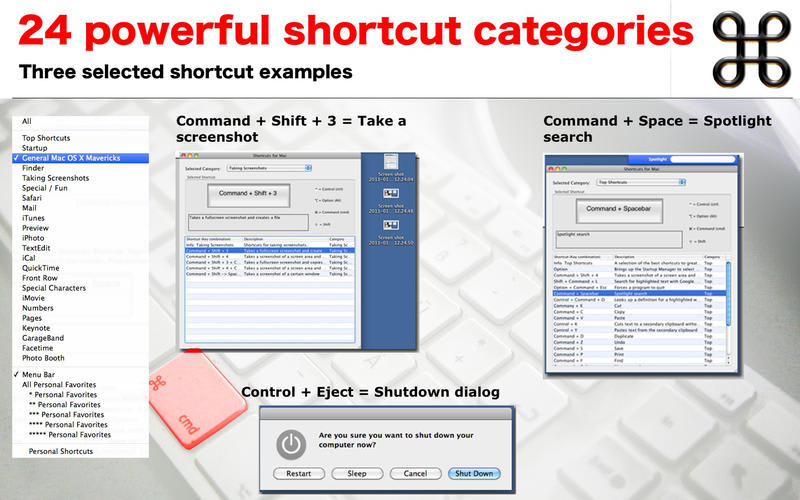 Shortcuts for Mac