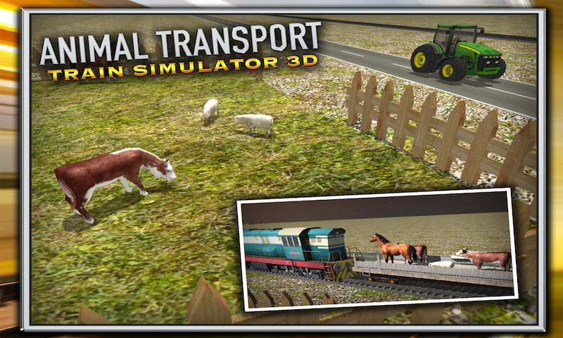 Animal Transport Train Sim 3D