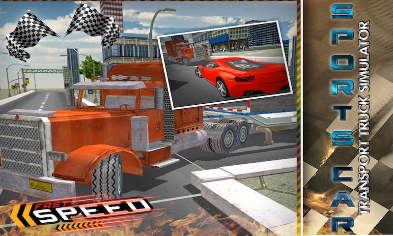 Sports Car Transport Truck Sim