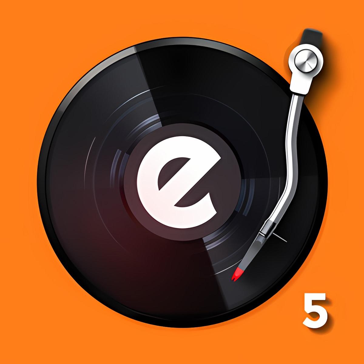 edjing 5DJ turntable to mix and record music-radio