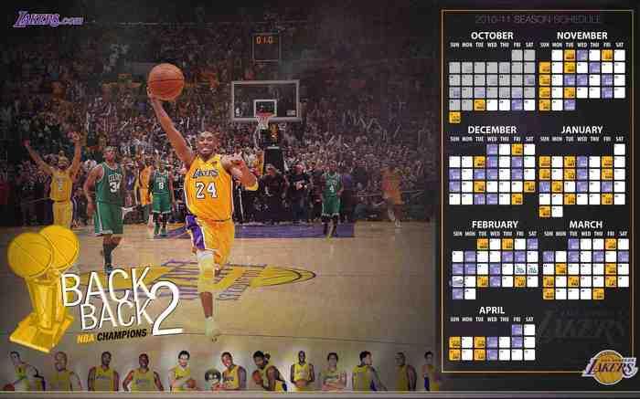 LA Lakers 2010-11 Schedule