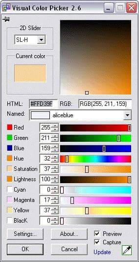 Visual Color Picker