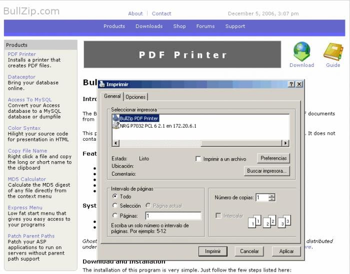 Image result for Bullzip PDF Printer