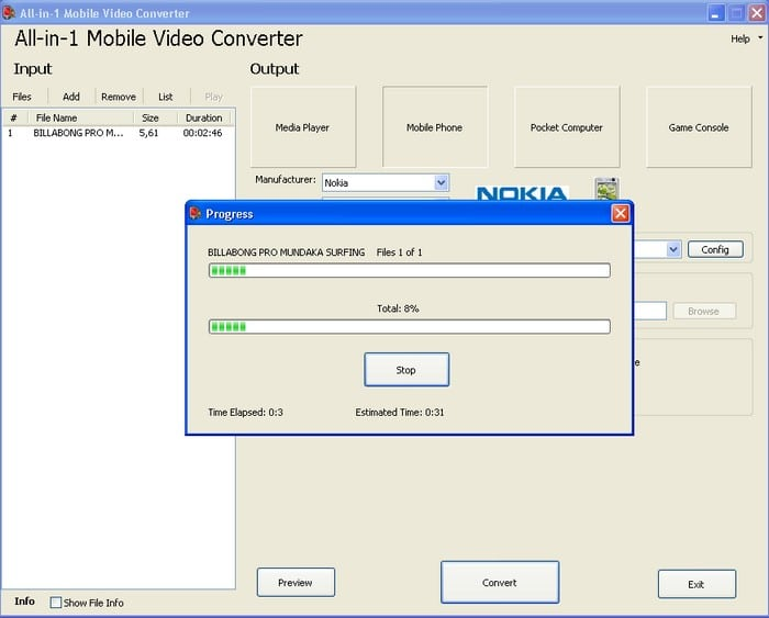 All in 1 Mobile Video Converter