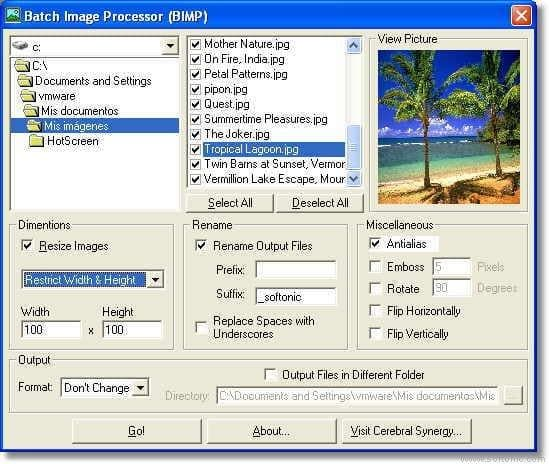 BIMP (Batch Image Processor)